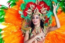 Brazilian wearing Samba Costume