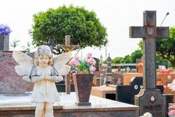 Brazillian angel statue cemetery ornaments