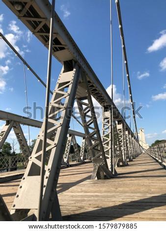 Brazos river bridge structural supports