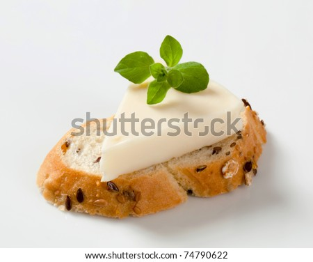 Bread and cream cheese