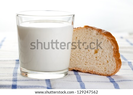 Bread and cup of milk