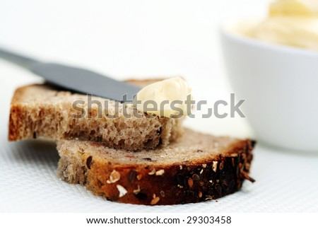 bread and fresh butter - food and drink