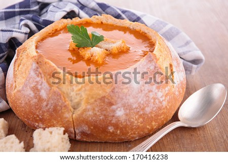 bread bowl and soup