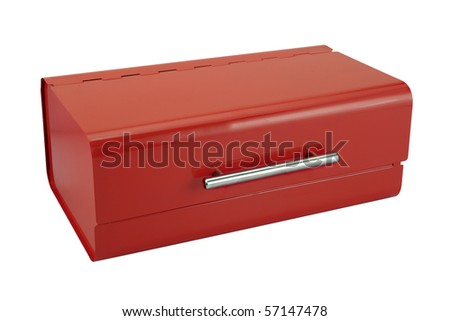bread box under the white background