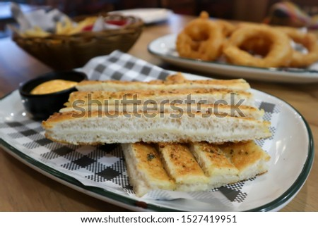 bread, bread sticks or bread sticks with dip
