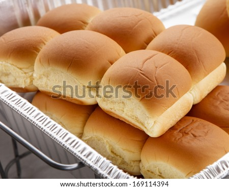 Bread buns an outdoor  Barbecue