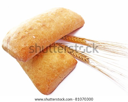 Bread buns with wheat spikes