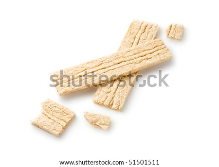 Bread crisps isolated on white