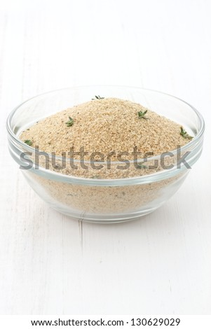 bread crumbs or breaded ingredient used to make fried chicken milanese chicken , nuggets and other delicious breaded foods