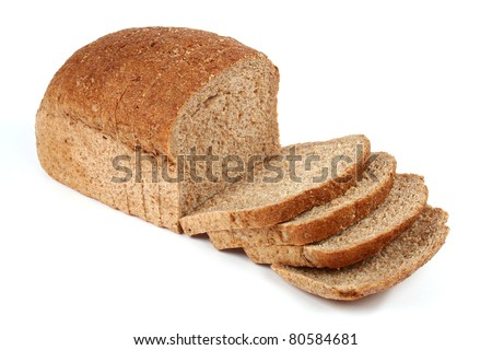 Bread from rye flour isolated on white background