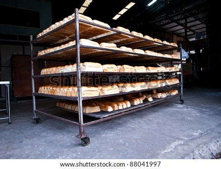 bread in factory