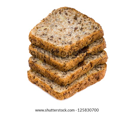 Bread isolated closeup