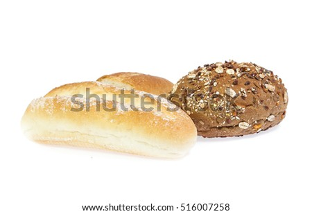 Bread isolated on white background #516007258