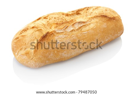Bread loaf isolated on white, clipping path included