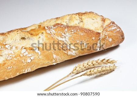bread of flour, wheat, yeast and water
