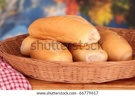 bread roll hotdog buns still life group