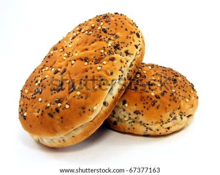 Bread Rolls with Seeded Tops