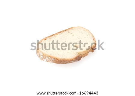Bread Slice isolated in white