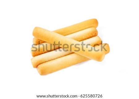 bread sticks on white background. #625580726