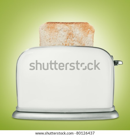 Bread toaster with toast