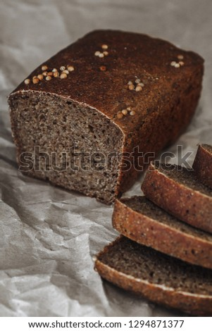 bread, village bread, home bread #1294871377