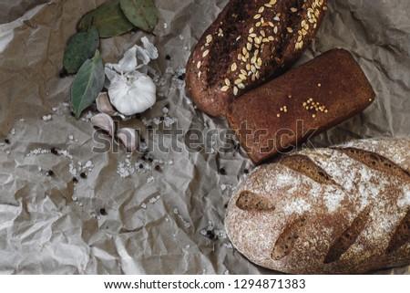 bread, village bread, home bread #1294871383