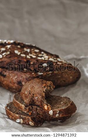 bread, village bread, home bread #1294871392
