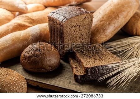 Bread, Wheat, Brown Bread.