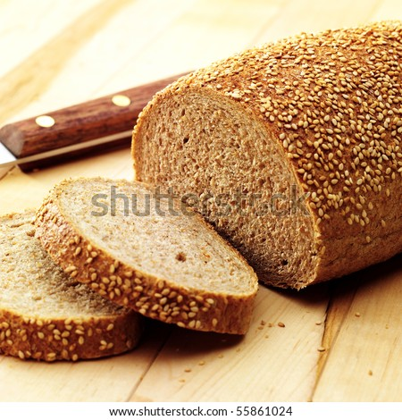 Bread with a few slices