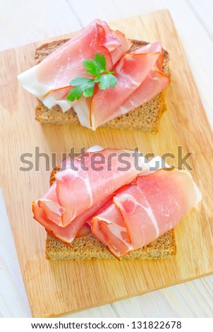 bread with ham