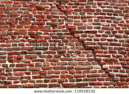Break brick wall Kalemegdan fortress, Belgrade, Serbia