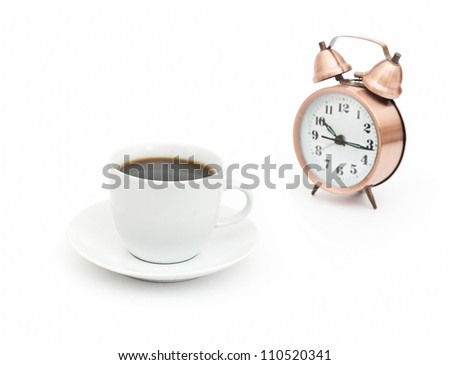 break for coffee isolated on white background