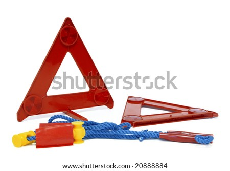 breakdown triangle and tow rope