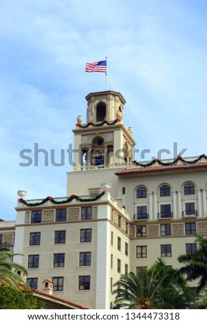 Breakers Hotel is a historic hotel in Palm Beach with Italian Renaissance style, Florida, USA. This hotel was originally called the Palm Beach Inn. #1344473318