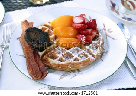"""breakfast at a """"bed and breakfast"""""""