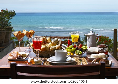 Breakfast at the hotel by the sea