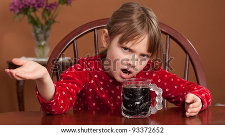 Breakfast Beverage Confusion - 5 y/o child reacts to being served black coffee
