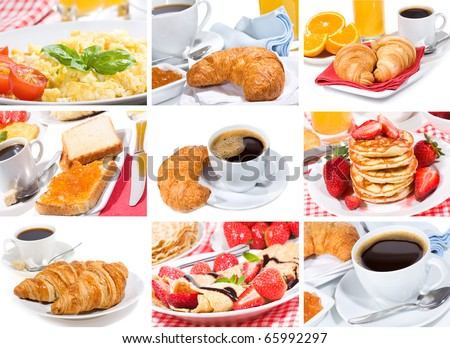 breakfast collage