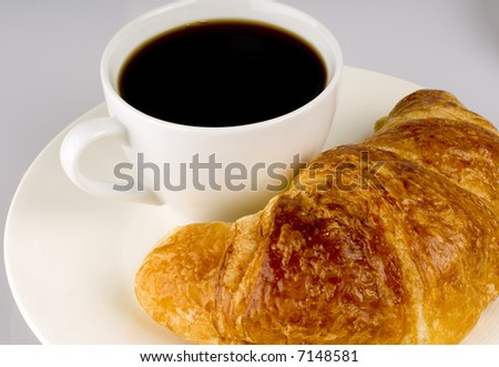 Breakfast Croissant and Coffee
