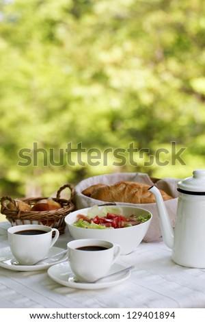 Breakfast in the summer resort
