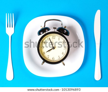 breakfast morning plate fork knife #1053096893