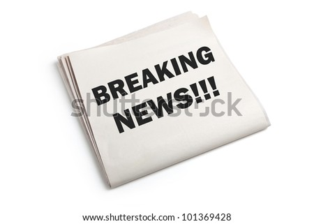 Breaking News with white background