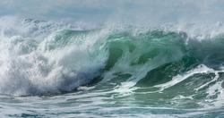 Breaking Surf, Fistral Beach, Cornwall