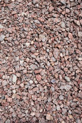 Breakstone background. Road gravel. Gravel texture. Crushed Gravel background. Piles of limestone rocks. Gravel texture pattern background. Construction material backdrop. Stones rubble granite.