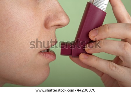 Breathing asthmatic medicine healthcare inhaler