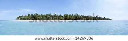 Breathtaking 24MP tropical island panorama with a lot of copy-space, ideal for summer travel themes