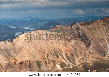 breathtaking sceneries of Landmannalaugar rainbow mountains, Iceland