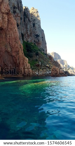 "Breathtaking seascapes in ""Calanques de Piana"", in Corsica, which stands for rocky coast in French #1574606545"