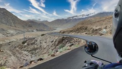 Breathtakingly beautiful landscapes of Ladakh captured by pillion ride on a bike trip