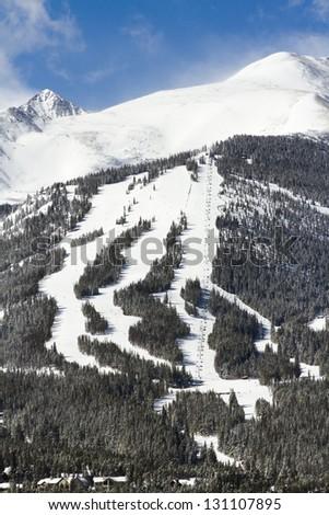 Breckenridge ski area in the Winter.